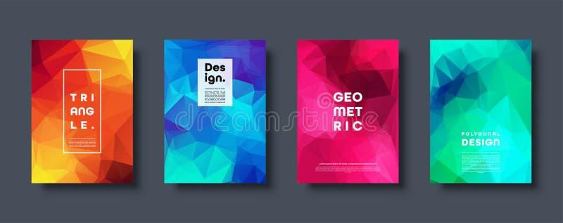 Driehoeks veelhoekige abstracte achtergrond Kleurrijk gradiëntontwerp Lage polyvormbanner Vector illustratie stock illustratie