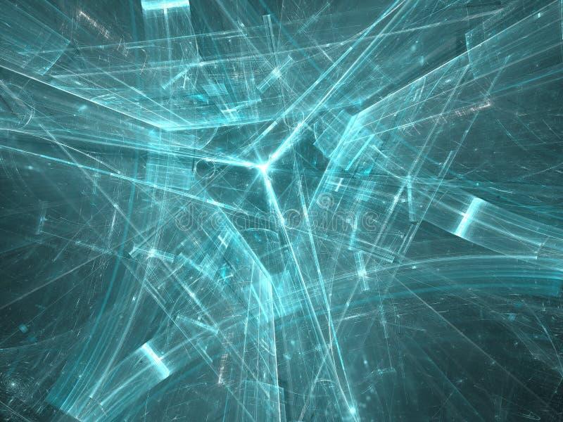 Driehoeksachtergrond - abstract digitaal geproduceerd beeld royalty-vrije illustratie