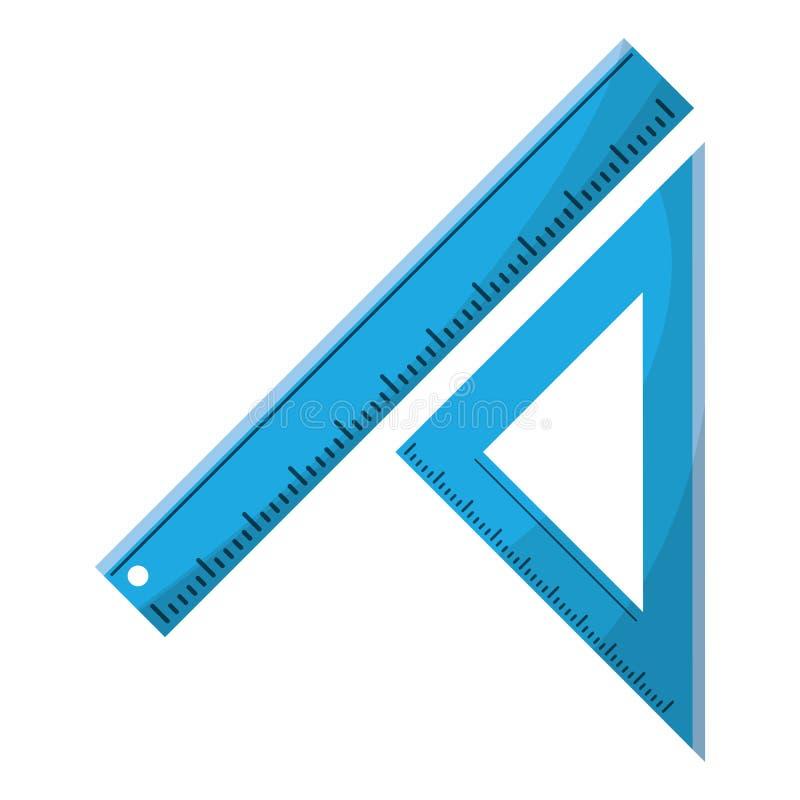 driehoeksheerser die school meten vector illustratie