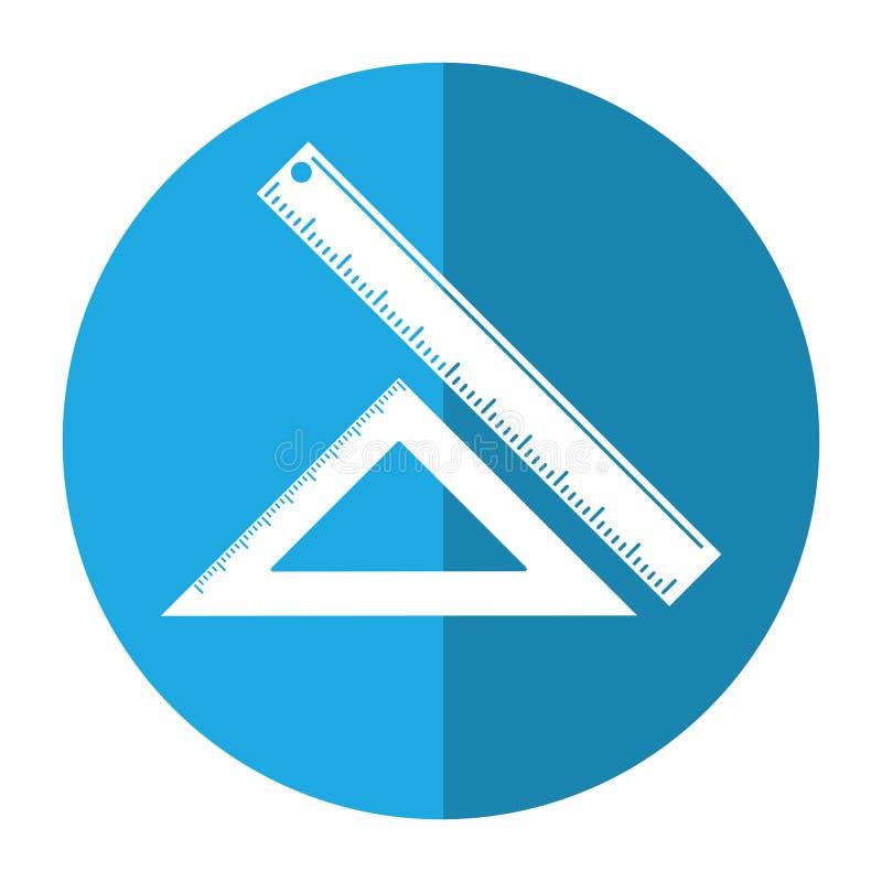 driehoeksheerser die schoolschaduw meten vector illustratie