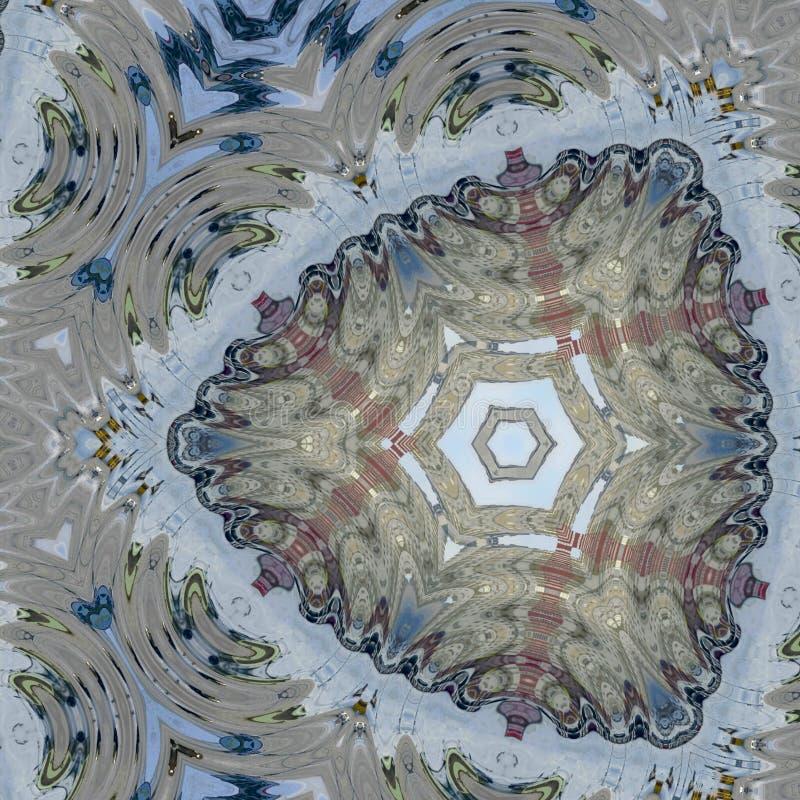 Driehoekspatroon op oppervlakte van oud juweel wordt gebaseerd dat vector illustratie