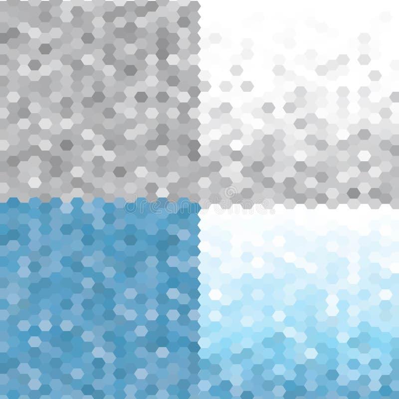 Driehoekspatroon vastgesteld Frosty Morning Vector naadloze geometrische achtergronden Eps 10 stock illustratie