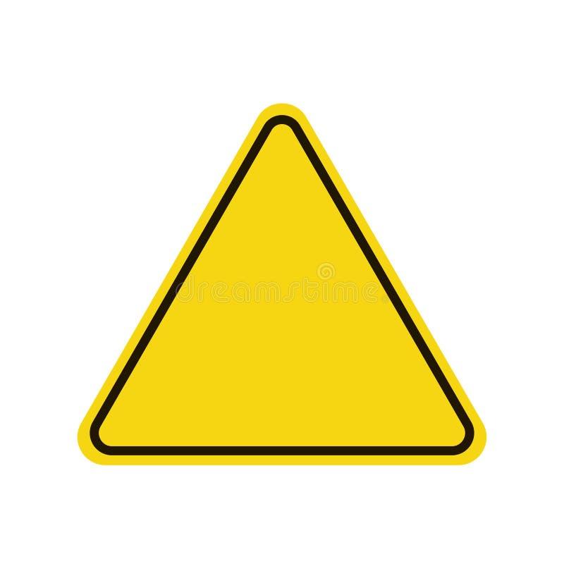 Driehoekswaarschuwingsbord Waarschuwend roadsign pictogram Gele achtergrond vector illustratie