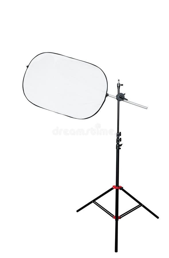 Driepoot met studio lichte reflector royalty-vrije stock afbeeldingen
