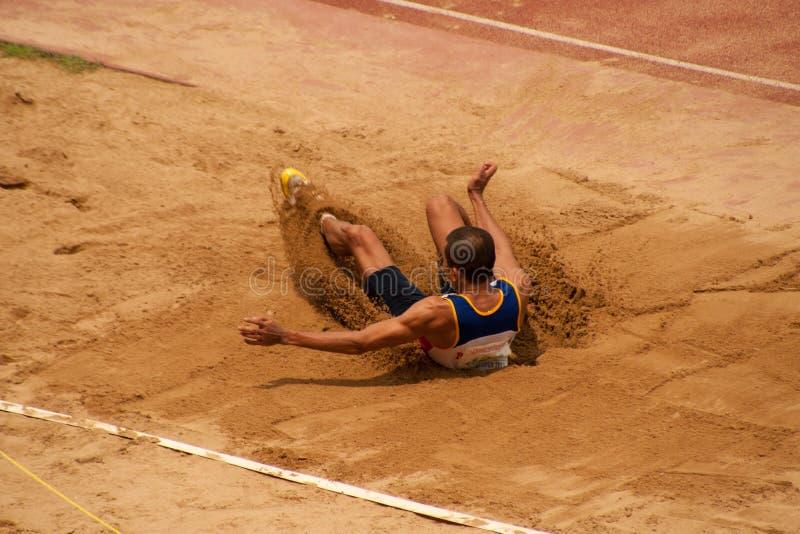 Driesprong in het Open Atletische Kampioenschap 2013 van Thailand. royalty-vrije stock foto's