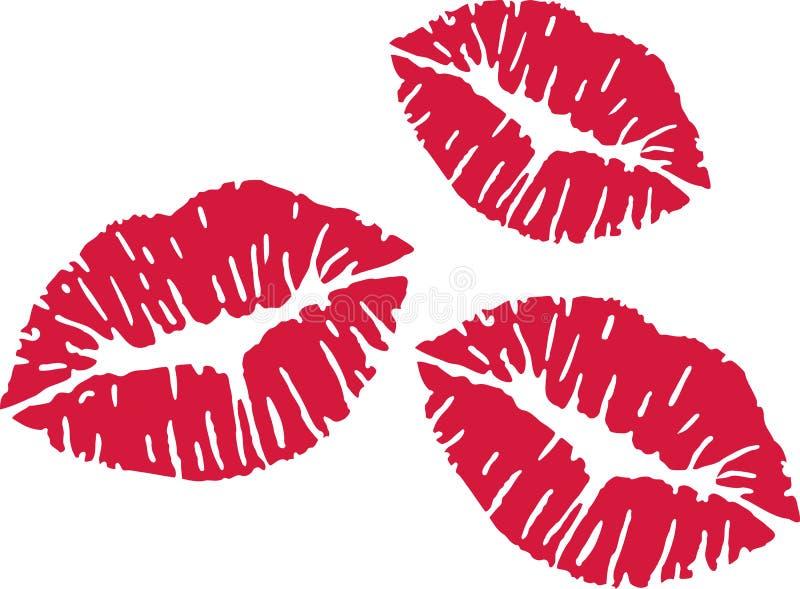 Drievoud rode kussen stock illustratie