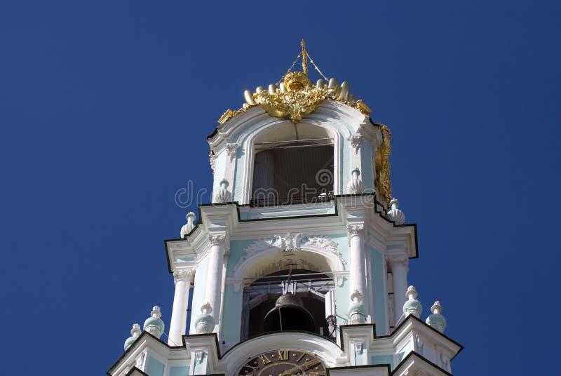 Drievuldigheid Sergius Lavra in Rusland belfry stock afbeeldingen