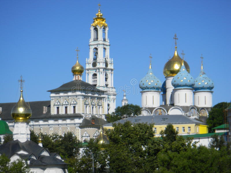 Drievuldigheid-St Sergius Lavra royalty-vrije stock afbeelding