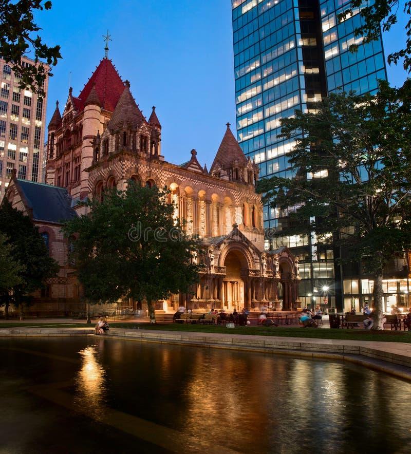 Drievuldigheidskerk in Boston, de V.S. stock afbeelding