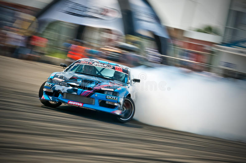 Drift Car In Action Editorial Photography