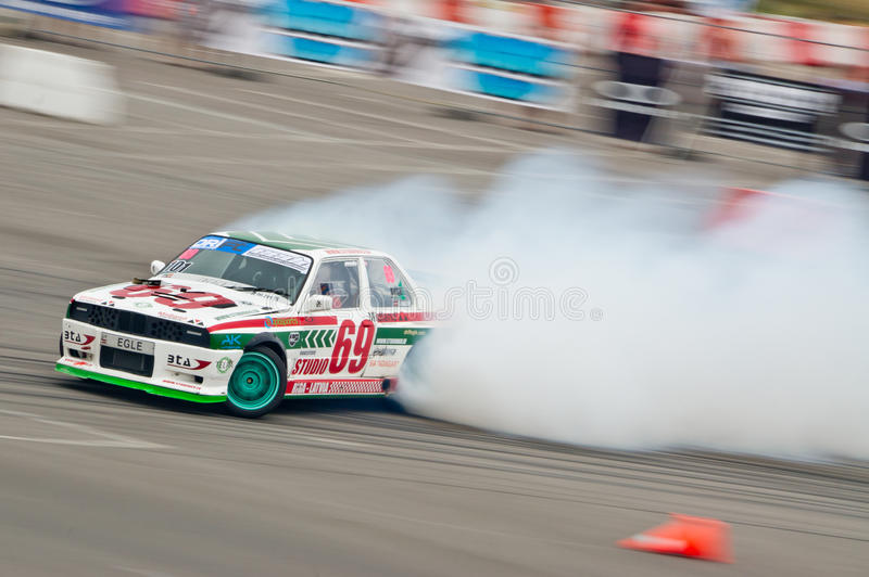 Drift Car In Action Editorial Stock Photo