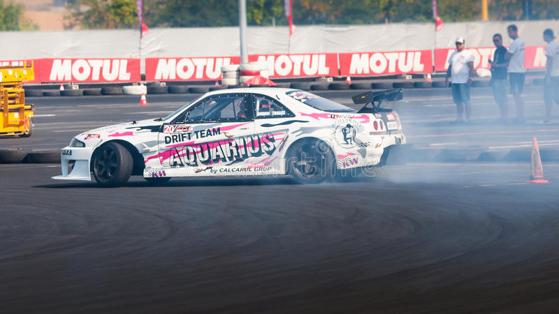Drift car at Hell King of Europe, 2012 copy space
