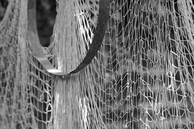 Drift net caught in the moment royalty free stock photography