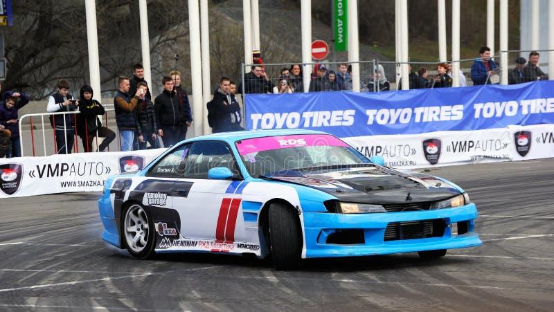 Drift racing car stock photos