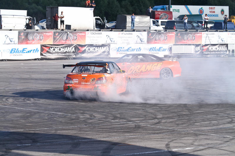 Drift show Orange team royalty free stock photography