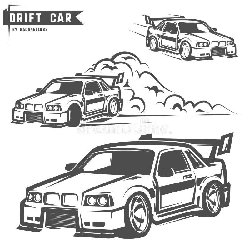 Drift sport team print for t-shirt,emblems and logo. Drift sport team print for t-shirt,emblems royalty free illustration