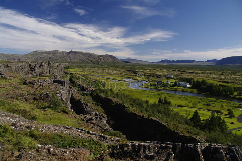 Download Drift Of The Tectonic Plates At Pingvellir Iceland Stock Image - Image: 16483197