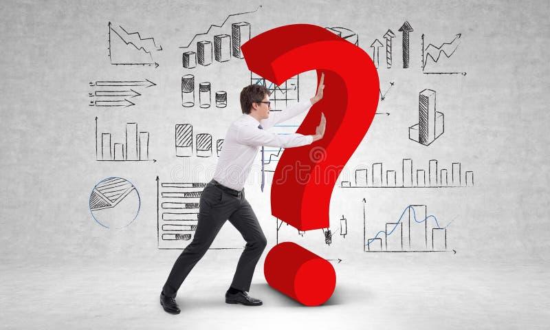 Driftig frågefläck för Businessperson arkivfoto