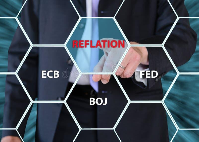 Driftigt centralbankbegrepp för affärsman arkivfoton