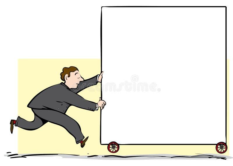 Driftigt tecken för man stock illustrationer