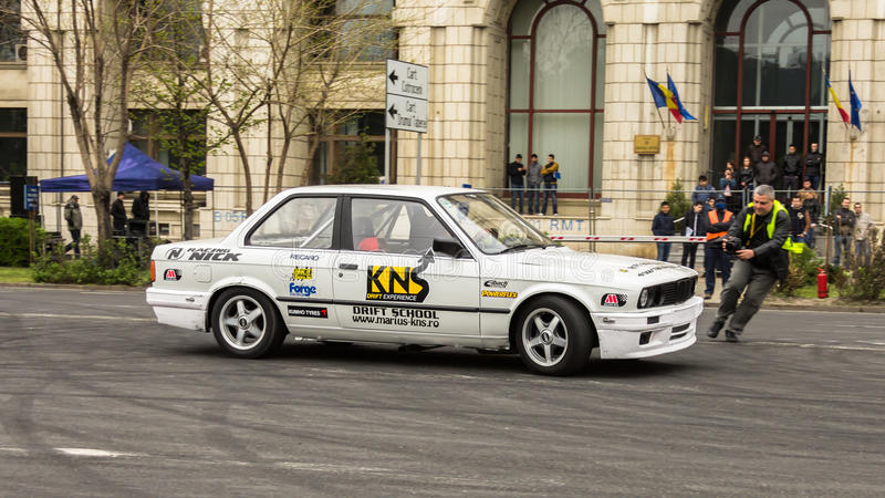 Drifting. At AutoMotoShow 2014, Bucharest - Romania royalty free stock image