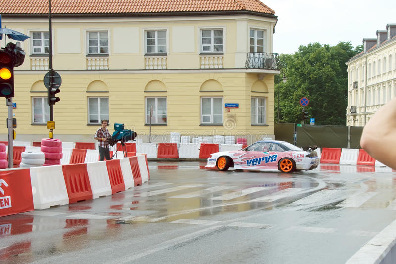 Drifting car at Verva Street Racing 2011 royalty free stock images