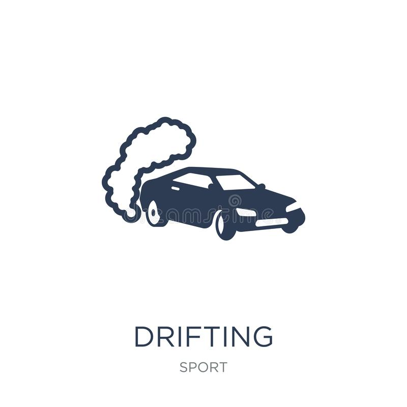 drifting icon. Trendy flat vector drifting icon on white background from sport collection royalty free illustration