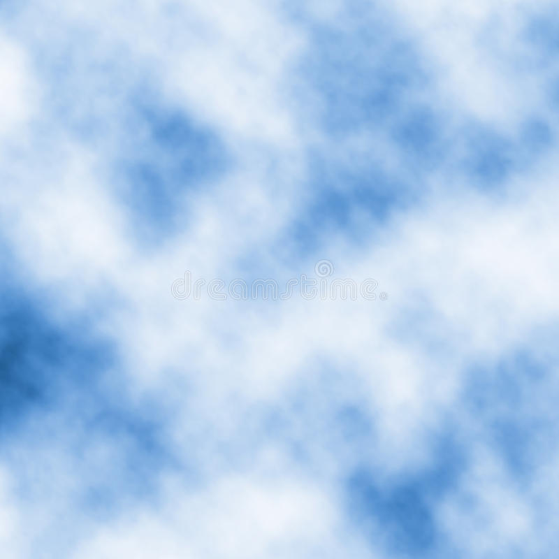 Drifting white clouds vector stock illustration