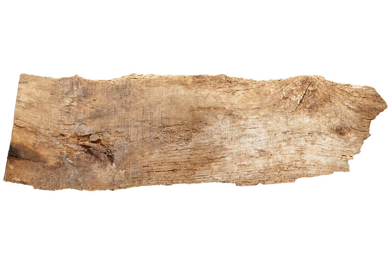 Driftwood. Isolated on white, clipping path included royalty free stock photo