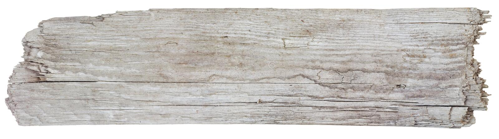 Driftwood plank. Rough hewn driftwood sign background royalty free stock images