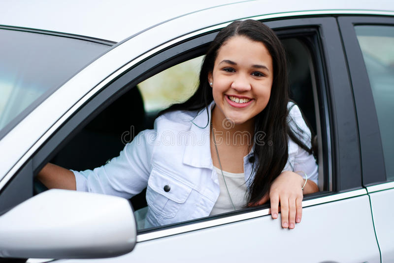 Drijf auto royalty-vrije stock fotografie