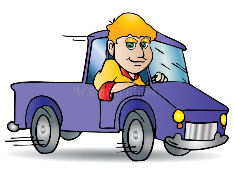 Drijf vrachtwagen stock illustratie