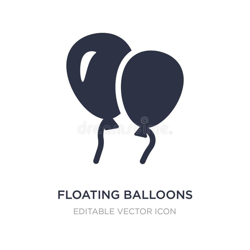 drijvend ballonspictogram op witte achtergrond Eenvoudige elementenillustratie van Algemeen concept royalty-vrije illustratie