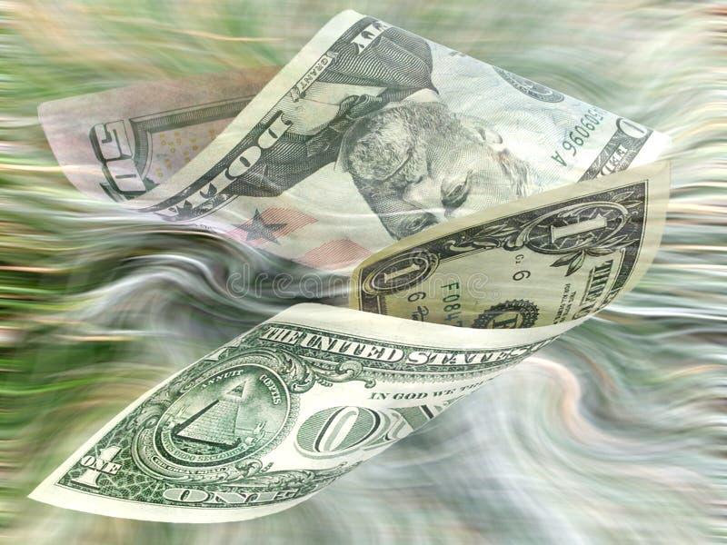Drijvend Contant Geld Royalty-vrije Stock Afbeelding