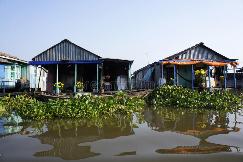 Drijvende huizen stock foto