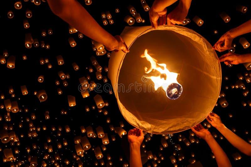 Drijvende lantaarn stock afbeelding