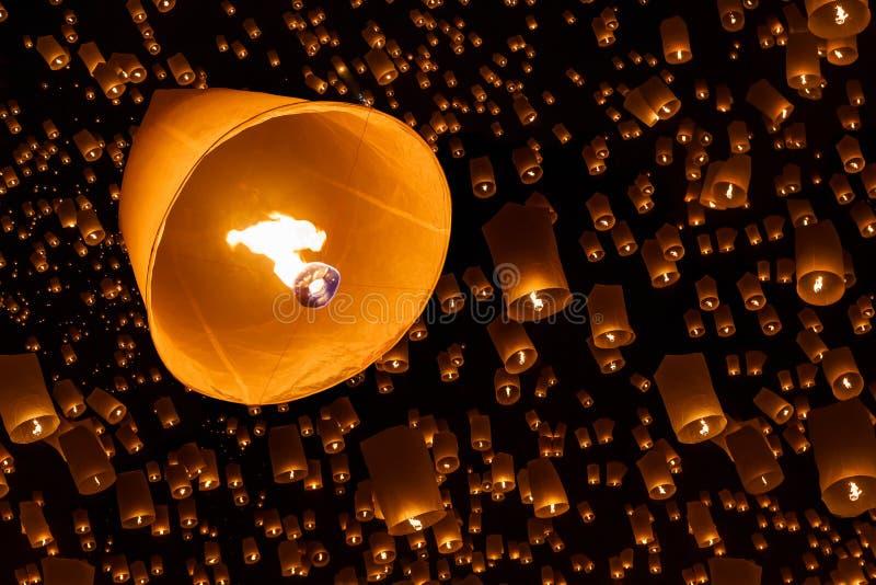 Drijvende lantaarn royalty-vrije stock afbeelding