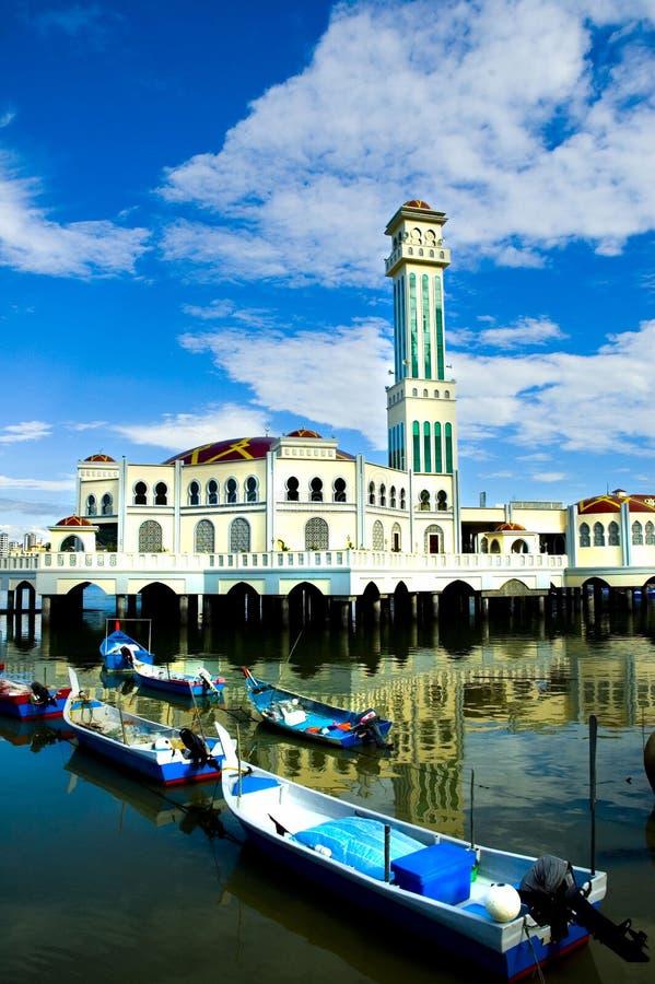 Drijvende Moskee royalty-vrije stock afbeelding