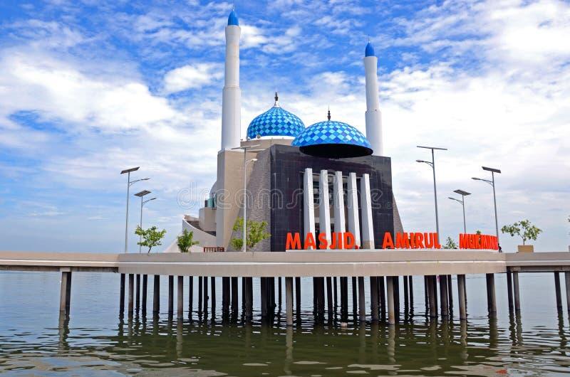 Drijvende moskee stock fotografie