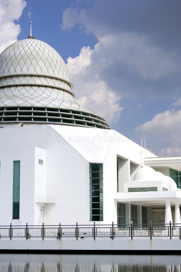 Drijvende moskee in Maleisië stock afbeeldingen