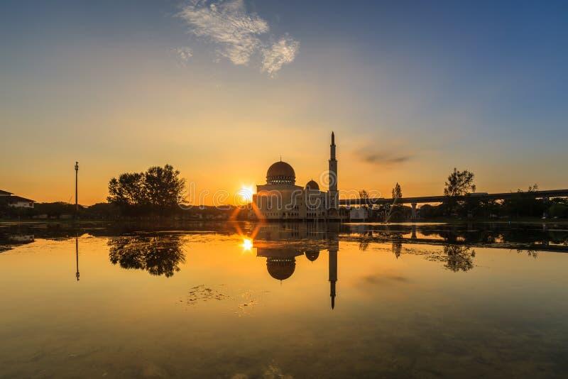 Drijvende moskee, Masjid als Salam, Puchong stock foto