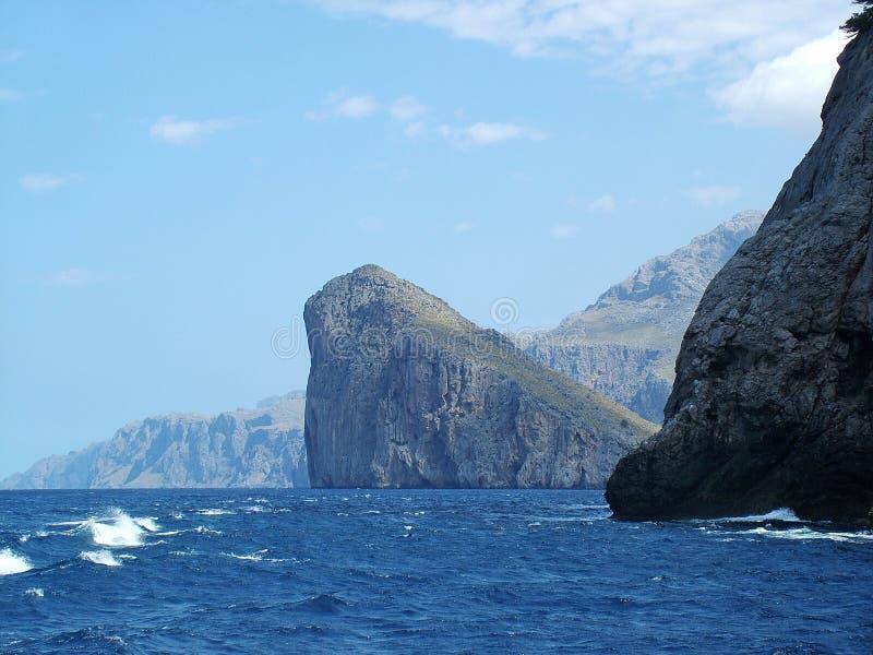 Drijvende steen - Mallorca stock afbeeldingen