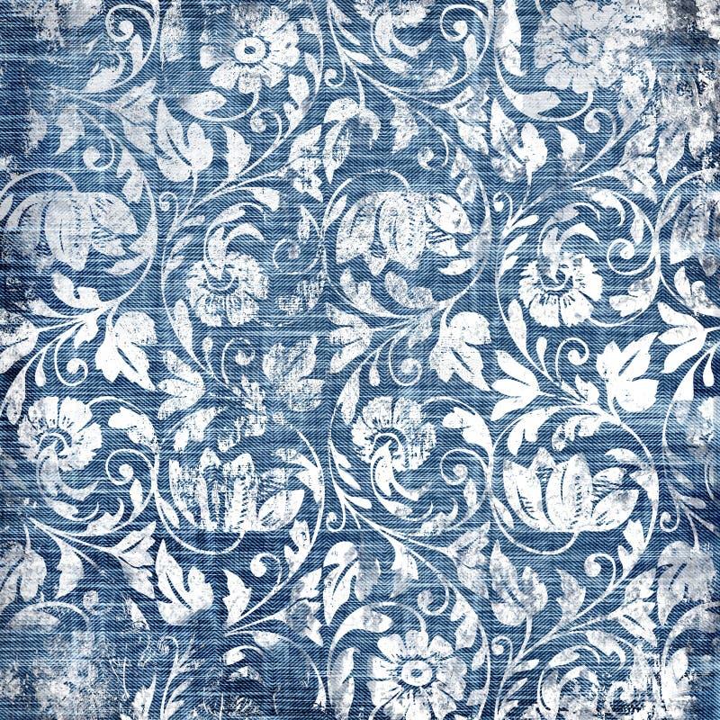 Dril de algodón de la vendimia ilustración del vector
