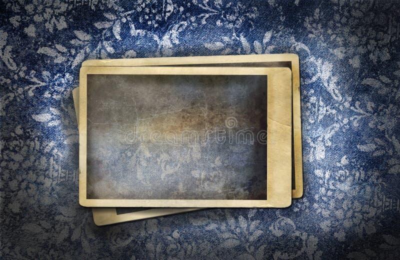 Dril de algodón sucio con efecto floral descolorado libre illustration