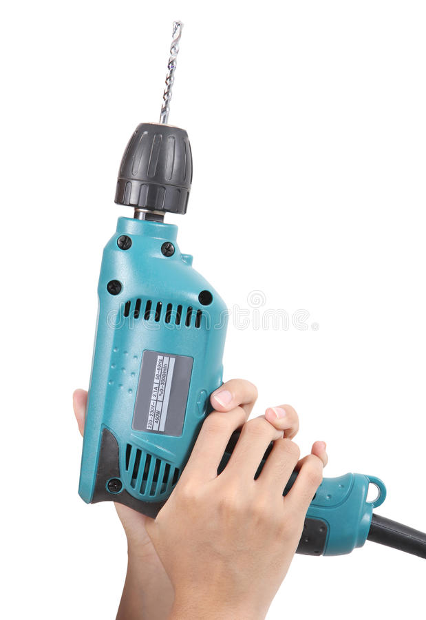 Download Drill stock photo. Image of hand, construction, adult - 25801822