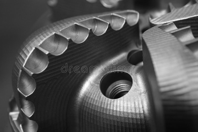 Drill Bit. On a gray background royalty free stock photo