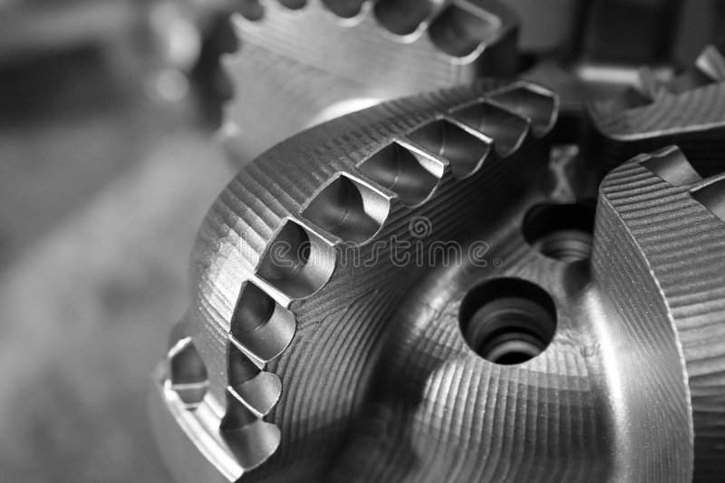 Drill Bit. On a gray background royalty free stock photography