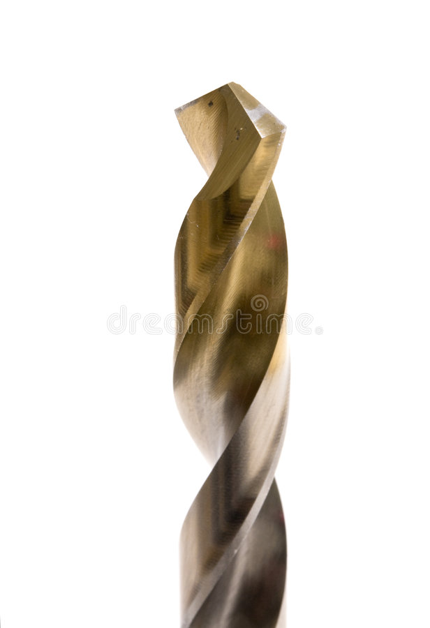 Drill bit. Isolated on white background stock images