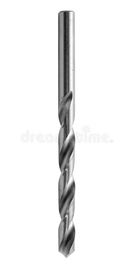 Drill bit isolated. On white background royalty free stock image