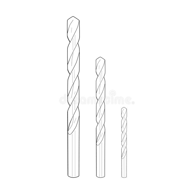 Free Drill Bits - Drawing Royalty Free Stock Photography - 74801307